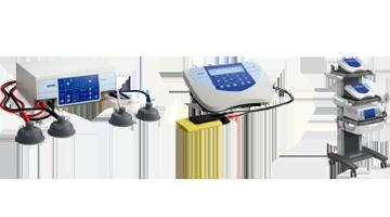 zestaw sprzętów do fizjoterapii
